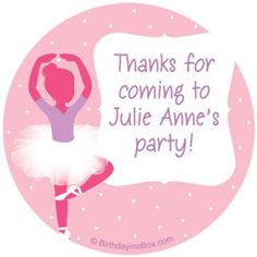 Check out Ballet Personalized Stickers (sheet of 12) - Low Priced Party…