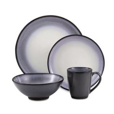 Sango® Concepts Eggplant Dinnerware - BedBathandBeyond.com says  eggplant  on the color  sc 1 st  Pinterest & Sango® Arcadia Black 16-Piece Dinnerware Set - Bed Bath u0026 Beyond ...