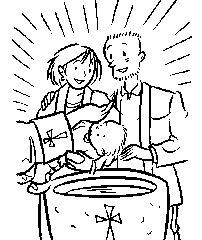 baptism sacrament catholic coloring page | catholic coloring pages ... - Coloring Pages Catholic Sacraments