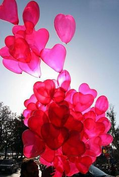 Nothing like a bunch of heart balloons to make your sweetheart feel special on Valentine's Day.