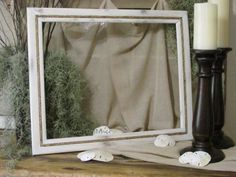 Vintage Wood Frame Beach Frame Distressed Frame by ThrownTogether, $65.00