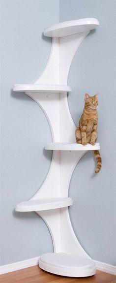 "Cat Tower ""Modern and elegant corner cat tree"""