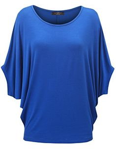 Women's Tunics - MBJ Womens Scoop Neck Half Sleeve Batwing Dolman Top  Made in USA -- You can get additional details at the image link. (This is an Amazon affiliate link)
