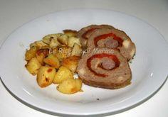Polpettone con i peperoni e patate al forno, ricetta piatto unico
