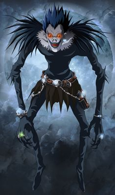 Ryuk is a Shinigami and the deuteragonist in the anime/manga series Death Note. He was the one who inadvertently gave Light Yagami the Death Note. He is voiced by Nakamura Shido II in the Japanese version of the anime and Brian Drummond in the English version. In the 2017 American live action film, he was portrayed by Willem Dafoe, who also portrayed Green Goblin, John Geiger, Rat, Lord Cob, Nikolai Diavolo, Armando Barillo and Eric Masters.