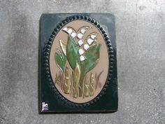Original Vintage Jie Gantofta Tile / Floral lily of by Luckytage($16.60) Anemones, Lily Of The Valley, Wall Plaques, Wall Tiles, Designers, The Originals, Floral, Pictures, Blue