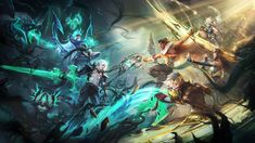League Of Legends Support, Champions League Of Legends, Lol League Of Legends, Online Battle, Miss Fortune, Epic Art, Monster Hunter, Team 2, Mists
