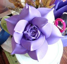 For Materials, Templates and Tools, go to: ... How to make Cheap Roses! Enjoy! Easy, Quick, Simple and Fun to make Foam Roses! Foam Rose Real Touch Flowers. Usage: Bridal Bouquet, Wedding party decorations, Wedding arrangeme. Diy, Tutorial, Flower, How, Make, Tuto,