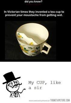 funny vintage mug mustache.  Jackie...do I have a moustache?  lol   b
