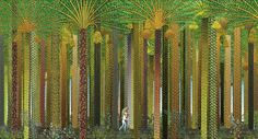 AZUR ET ASMAR, Michel Ocelot overlay, repetition only different, colours