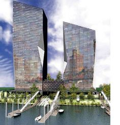 Plans are underway to build two new buildings in Portland, Oregon. The structure will have integrated solar panels built into glass sidings. The building, that will be generating all of its own power (sunny days provided), will also have a rain water collection to supplement its water needs.