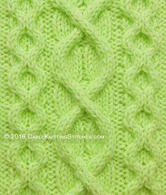 This cable pattern uses a combination of Superimposed Cable and Honeycomb stitch