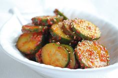 Korean Spicy Cucumber Salad Banchan ~ http://jeanetteshealthyliving.com
