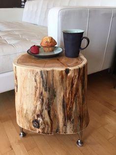 Home Decor Furniture, Furniture Makeover, Furniture Market, Furniture Online, Diy Wood Projects, Wood Crafts, Diy Bedroom Decor, Diy Home Decor, Tree Stump Table