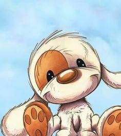 This Photo was uploaded by deurtje. Cartoon Dog, Cartoon Pics, Cartoon Styles, Cute Cartoon, Animals And Pets, Baby Animals, Cute Animals, Pictures To Draw, Cute Pictures