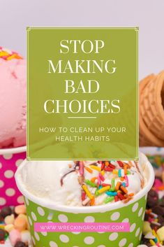 Stop making the worst choices for your health. How to gain confidence making the best choices for your health. Healthy tips from a pro on how to make better choices. #healthy #healthchoices #wreckingroutine. Healthy Meals To Cook, Get Healthy, Healthy Tips, Healthy Choices, Easy Weight Loss Tips, Health Programs, Healthy Lifestyle Motivation, Make Good Choices, How To Increase Energy
