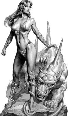 Boris Vallejo sketch