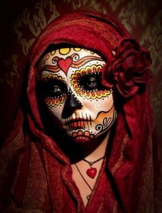 Sugar Skull - Dia De Los Muertos/Day Of The Dead Makeup Inspiration Sugar Skull Makeup, Sugar Skull Art, Sugar Skulls, Maquillaje Sugar Skull, Skeleton Body, Skeleton Makeup, Dead Makeup, Makeup Art, Makeup Ideas