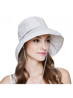 5dc6079c Women's Floppy Foldable UPF 50+ Hat-Summer Sun Beach-Wide Brim Cap -  Off-White - CL182H8ULW6