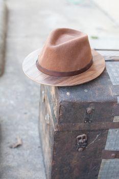66be5d684d4 Brown Fedora W  Walnut Brim · Wooden Bow TieLapel ...