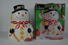 #GIBSON #HOUSEWARES #SNOWMAN #COOKIE #JAR#BoxisDamaged#SeeCondition