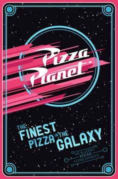 Pizza Planet ~ Toy Story ~ Minimal Movie Poster by Mario Graciotti ~ Pixar Establishments Film Pixar, Pixar Movies, Disneyland, Disney Love, Disney Magic, Pizza Planet, Business Poster, Disney Posters, Movie Posters