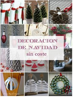 Colegas ¿andan gastados pero quieren adornar para esta Navidad? Chequeen estas decoraciones, que además de ser sin coste, contribuyen al medio ambiente. #ColectivoGentedePapel #Recomienda #PiensaVerde