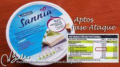 Quesos permitidos dieta Dukan:  quesitos Sannia 3% materia grasa en Eroski