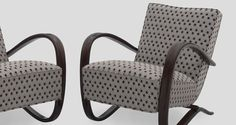Halabala H-269 lounge chairs restored and redesigned by Galeria SASSO Warsaw galeriasasso@gmail.com