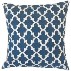 Benoite Navy 18-inch Feather and Down Filled Throw Pillow