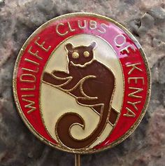 Wildlife Clubs of Kenya Badge East Africa, Kenya, Badges, Colonial, Heart Ring, Awards, Wildlife, Brooch, Buttons