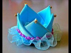 Retail Newborn Mini Felt Crown+Glitter Elastic Headband For Girls Hair Accessories Handmade Luxe Baby Headbands Ribbon Art, Diy Ribbon, Ribbon Crafts, Ribbon Bows, Ribbon Flower, Diy Hair Bows, Diy Bow, Broches Disney, Hair Bow Tutorial
