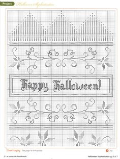 Fall Cross Stitch, Cross Stitch Needles, Cross Stitch Charts, Cross Stitch Patterns, Cross Stitching, Cross Stitch Embroidery, Halloween Cross Stitches, Needle And Thread, Holiday Crafts