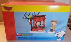 """NIP 2003 Department 56 Peanuts """"Christmas Spirit - 5 Cents"""" 2 Piece Set 59094  #Department56 #Dept56 #Peanuts #CharlieBrown #Snoopy #Woodstock #Christmas #Holiday"""