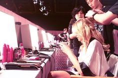 Backstage Beauties at the Victoria's Secret Fashion Show - Backstage at the 2014 Victoria's Secret Fashion Show