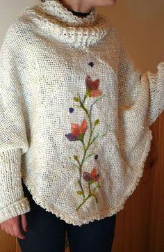 Fiber Art Quilts, Crochet Wrap Pattern, Loom Weaving, Sweater Design, Knitwear, Applique, Pullover, Embroidery, Wool