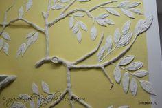 барельеф ветка дерева