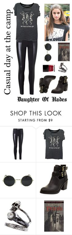 """Daughter of Hades: Casual day at the camp"" by vampirliebling ❤ liked on Polyvore featuring Vero Moda, Wildfox, Miss Selfridge and Butter London"