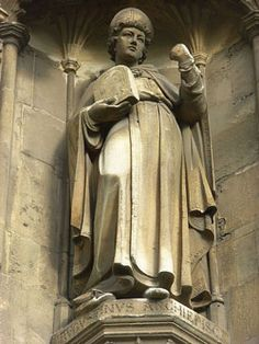 """St. Augustine of Canterbury, Benedictine monk who became the first Archbishop of Canterbury in the year 597,the """"Apostle to the English"""" and a founder of the English Church."""