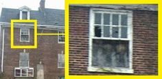Ghosts in the window Scary Ghost Pictures, Ghost Images, Ghost Photos, Scary Places, Creepy Things, Ghost Caught On Camera, Ghost Sightings, Ghost And Ghouls, Paranormal Photos