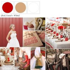 The Perfect Palette: {Apple Orchard I Do's}: Cranberry, Red, Latte & White - living room color palette