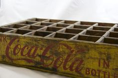 These are some very cool vintage Coca-Cola crates. This 24 bottle case would be great for a window piece or somebody crafting turning them into a completely new piece all together. The crate measure 1