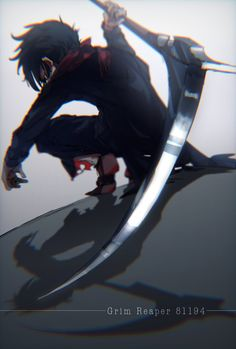 Anime Angel Of Death Grim Reaper - Anime Demon Manga, Manga Anime, Art Manga, Manga Boy, Anime Boys, Angel Of Death, Anime Grim Reaper, Familia Anime, Anime Lindo