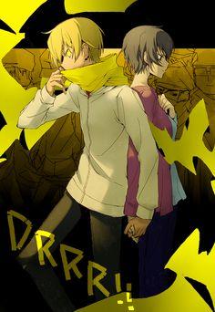 Tags: Anime, Rahit, DURARARA!!, Mikajima Saki, Kida Masaomi, Back to Back