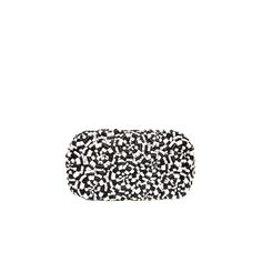 Beyond obsessed with this black and white beaded clutch!