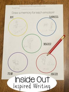 ---O °o0 Inside Out memory sphere writing  ( Draw a memory for each emotion! )