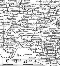 карта Ржевского уезда  1792 года