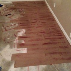 The Make-Do Queen: Paper floors