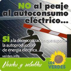 Los Verdes acusan al Gobierno de Rajoy de abuso fiscal por el peaje de respaldo al autoconsumo eléctrico