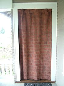 """Getting started. Half way finished. The finished curtain hanging from a tension rod in the doorway. My daughter as """"Hermoine"""" posing at t..."""